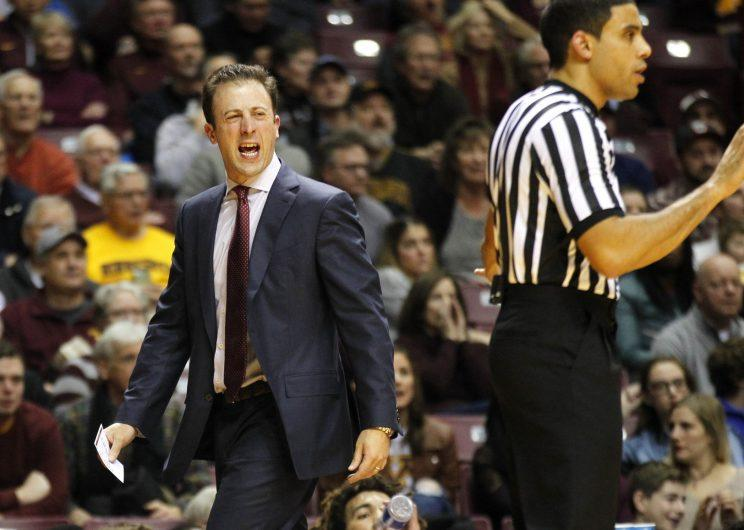 Richard Pitino and the Gophers have bounced back from an abysmal 2016 to finish fourth in the Big Ten this season. (Getty)