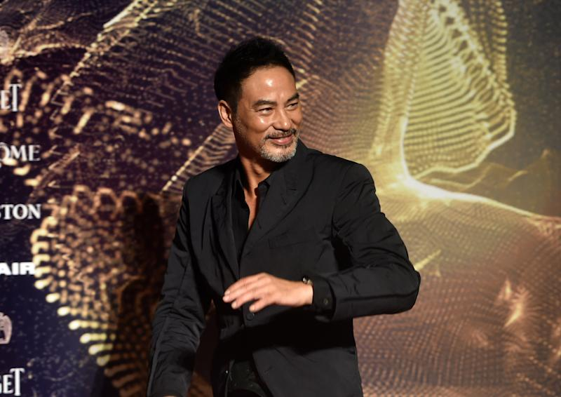 Hong Kong actor Simon Yam arrives for the 52nd Golden Horse Film Awards in Taipei on November 21, 2015. (Getty Images)