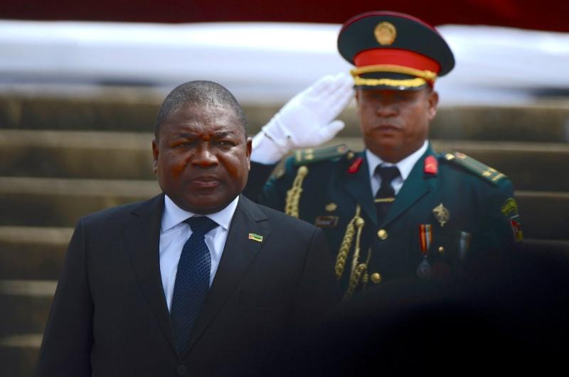 FILE PHOTO: Mozambique's President Nyusi is saluted as he is sworn-in for a second term in Maputo