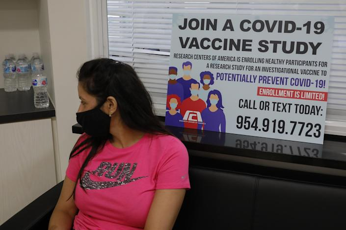 A participant in clinical trials for a COVID-19 vaccine