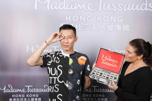 The process of creating a wax figure is highly meticulous, here Lee Chong Wei is seen selecting the eye colour closest to his own.