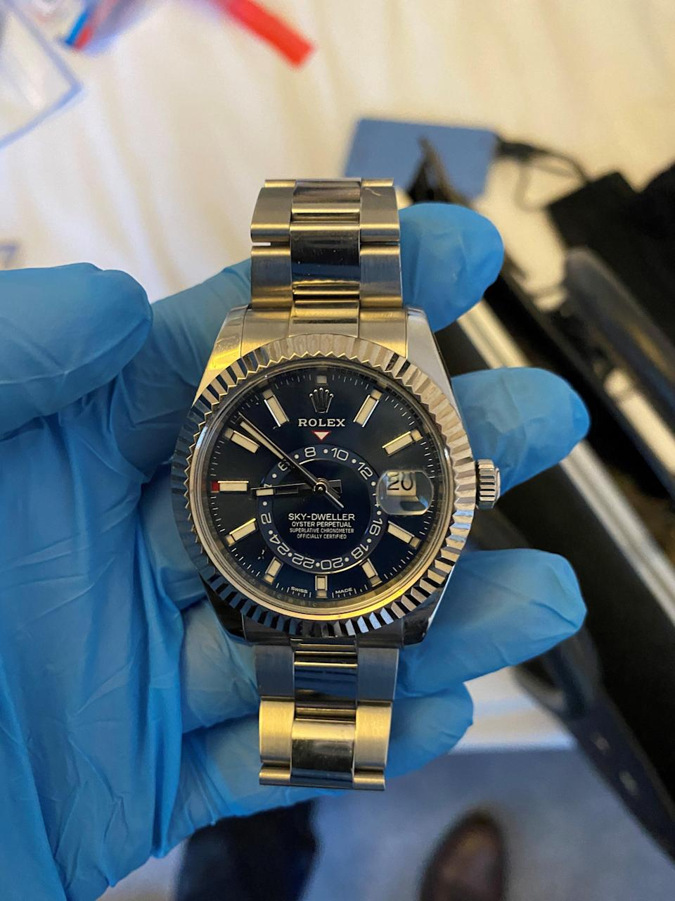 One of the Rolex watches recovered from Tahir's bedroom (MPS)