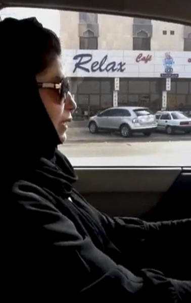 FILE -- In this Wednesday, June 22, 2011 file image made from video released by Saudi Women for Driving via Change.org, Azza Al-Shamasi drives a car as part of a campaign to defy Saudi Arabia's ban on women driving, in Riyadh, Saudi Arabia . Saudi Arabia's king granted women seats on the country's top advisory council for the first time on Friday, January 11, 2013, giving them a long-awaited toehold in the ultraconservative kingdom's male-dominated political system. (AP Photo/Saudi Women for Driving via Change.org, Eman Al-Nafjan) EDITORIAL USE ONLY