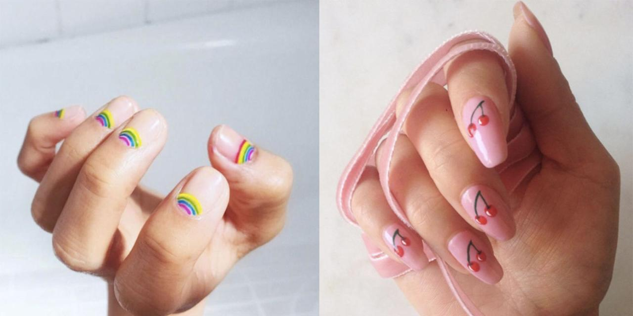 <p>Nail art - it's the easiest way to add a little extra pizzazz to any mani situation. So when Summer comes around and all we want to do is add some jazz to our fingertips and bring the sunshine inside, nail art is our first port of call.</p><p>From negative space deckchair stripes and cherry prints, to rainbow reverse French tips and studded floral stickers, these are the Summer nail art designs every cool girl needs to know about.</p>