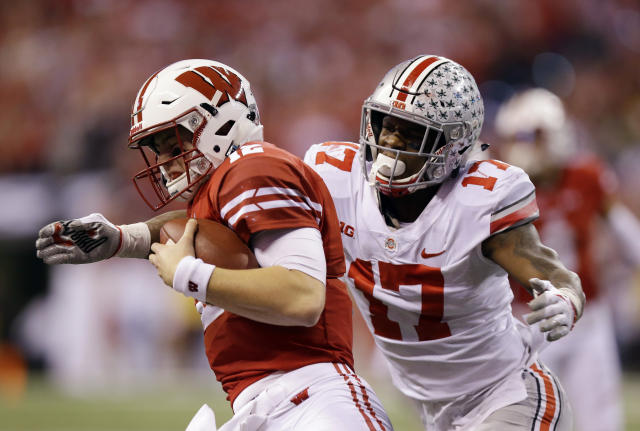 Ohio State's Jerome Baker didn't fit the Dolphins' prototype size for a linebacker, but he had qualities they liked that helped make him one of their draft picks last week. (AP)
