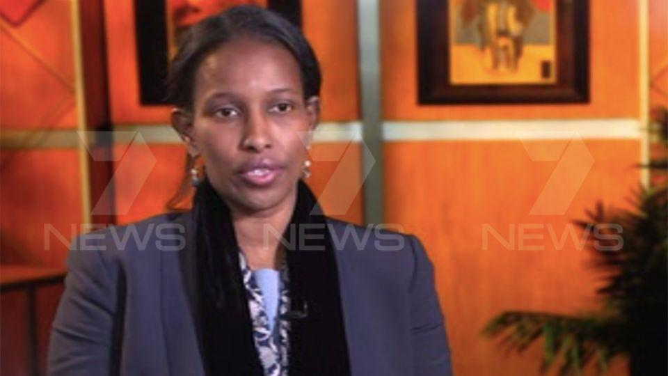 Hirsi Ali compared the burka to a statement as strong as flying the