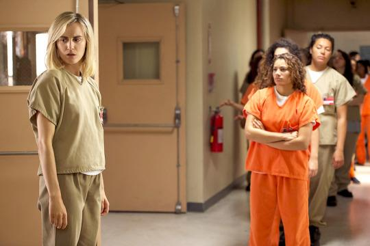 """<p><b>What's Coming Up:</b> The Season 4 trailer suggests a much more dramatic tone for the series in the new season, and the committedly spoiler-free cast confirms it's all about the women of Litchfield trying to maneuver the new corporate-owned prison. """"What's happening in the prison [is] in a cascading, almost kaleidoscopic way,"""" says Kate """"Red"""" Mulgrew. """"You're going to see Red with secrets in the center of a storm."""" Lea """"Big Boo"""" DeLaria adds that creator Jenji Kohan """"is taking on the prison system. She's taking it on head-on. That's why I think people are going to find this a much darker season.""""<br /><br /><b>The New Kid on the Cell Block:</b> Lifestyle guru and TV star Judy King (Blair Brown) will be getting everyone's attention in Season 4. """"She's so funny, often in a rather appalling way, but she is funny. She's used to getting her own way. And yes, she brings that attitude to prison,"""" says Brown. """"People, inmates, and also the staff don't know how to deal with having a famous person there. So you can imagine all the variety of ways that people react to that, good and bad."""" <i>— Kimberly Potts</i><br /><br /><i>(Credit: Netflix)</i> </p>"""