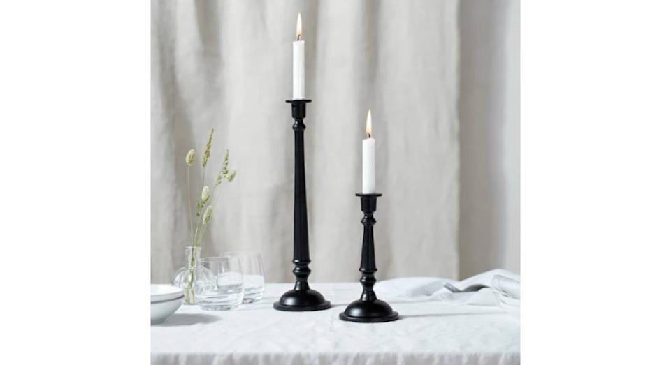 Black Dinner Candle Stick Tall (The White Company)