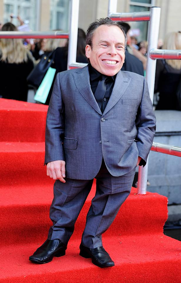 "<a href=""http://movies.yahoo.com/movie/contributor/1800062808"">Warwick Davis</a> at the London world premiere of <a href=""http://movies.yahoo.com/movie/1810004624/info"">Harry Potter and the Deathly Hallows - Part 2</a> on July 7, 2011."