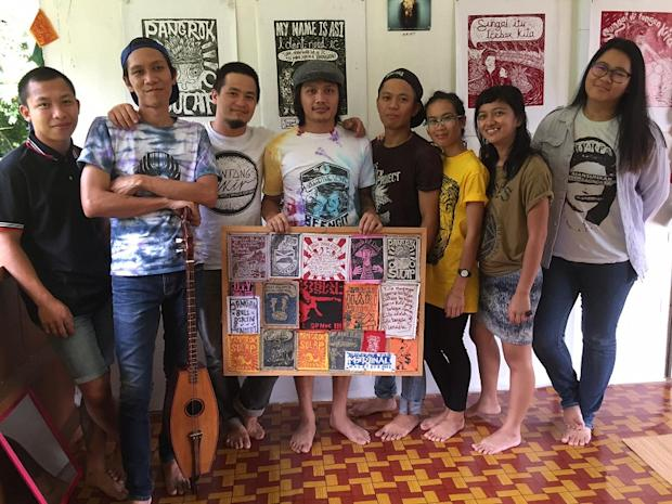 Pangrok Sulap, an art collection in Sabah said they withdrew from the exhibition to preserve their integrity and protest against art censorship in Malaysia. — Picture by Julia Chan