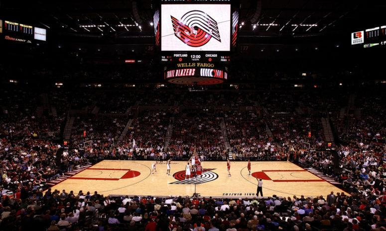 A general view of the Portland Trailblazers arena.