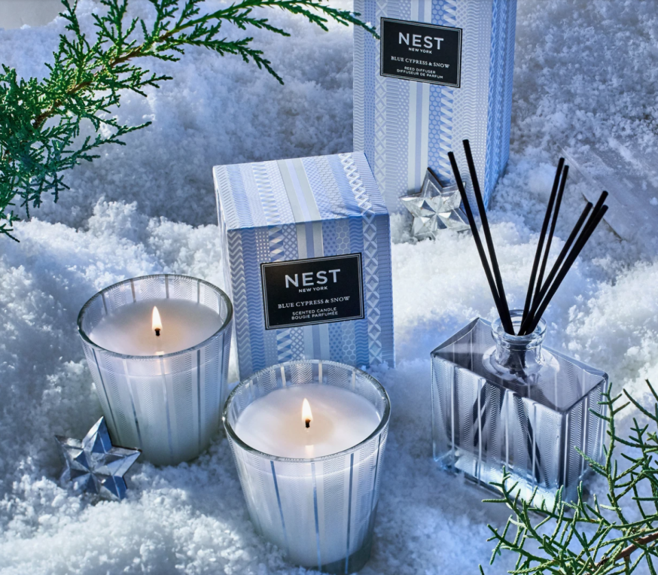 Nest offers both winter candles and scent diffusers that make great gifts for the holidays.