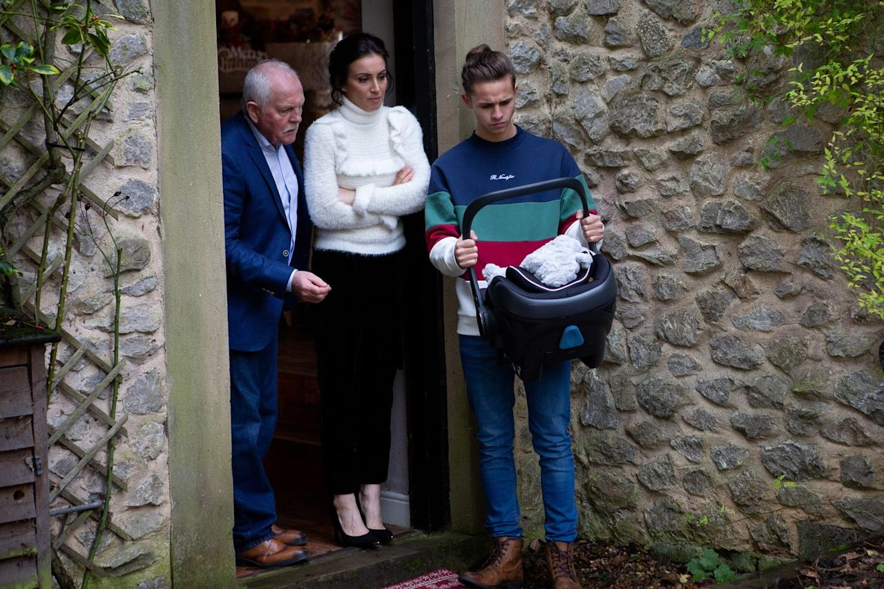 <p>Festive celebrations are cut short when Eric, Leyla and Jacob find a baby left on the doorstep.</p>