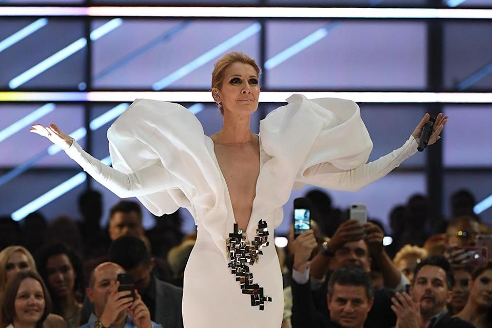 Celine Dion at the2017 Billboard Music Awards on May 21.