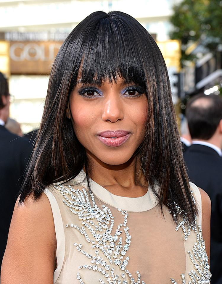 Kerry Washington arrives at the 70th Annual Golden Globe Awards at the Beverly Hilton in Beverly Hills, CA on January 13, 2013.