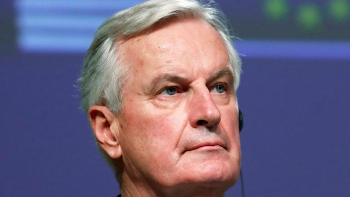 Michel Barnier has blamed the UK for the problems now faced by musicians and crews