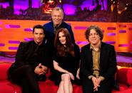Matthew McConaughey, Graham Norton, Julianne Moore and Alan Davies during the filming of the Graham Norton Show at The London Studios, south London, to be aired on BBC One on Friday evening.