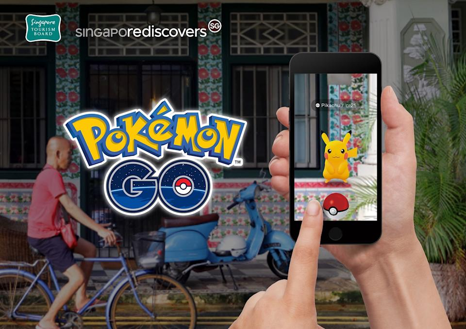 The Singapore Tourism Board has teamed up with American AR technology company, Niantic, to showcase tourism offerings and encourage precinct exploration with the popular smartphone game, Pokémon GO. The collaboration is part of the ongoing SingapoRediscovers1 campaign to support local businesses. (Photo: Singapore Tourism Board)