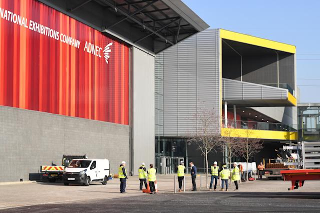 London's ExCel centre is being made into a temporary hospital - the NHS Nightingale hospital - to help handle the influx of COVID-19 patients. (PA)