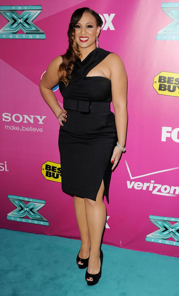 Melanie Amaro arrives at the 'The X Factor' Season 2 Premiere Party at Grauman's Chinese Theatre on September 11, 2012 in Hollywood, California.
