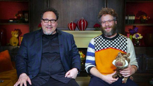PHOTO: The Lion King' director Jon Favreau and Seth Rogen, who voices Pumbaa, talk to 'GMA' about the latest Disney film. (ABC News)