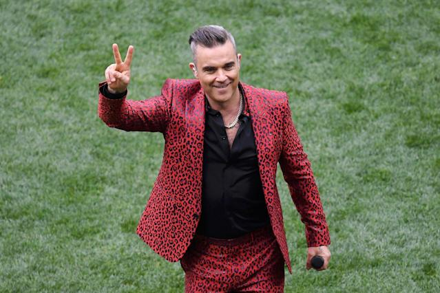 <p>Robbie Williams was the surprise performer named to sing at the opening ceremony. (Getty) </p>