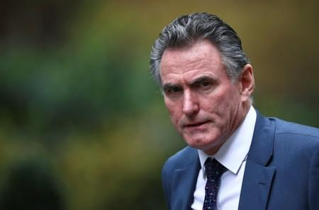 FILE PHOTO: Royal Bank of Scotland chief executive Ross McEwan is seen outside Downing Street in London