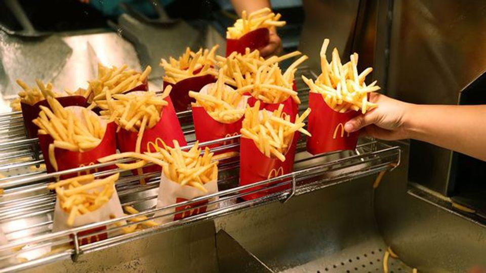 Secret trick? Are fries cartons being pinched by Macca's employees? Source: AAP