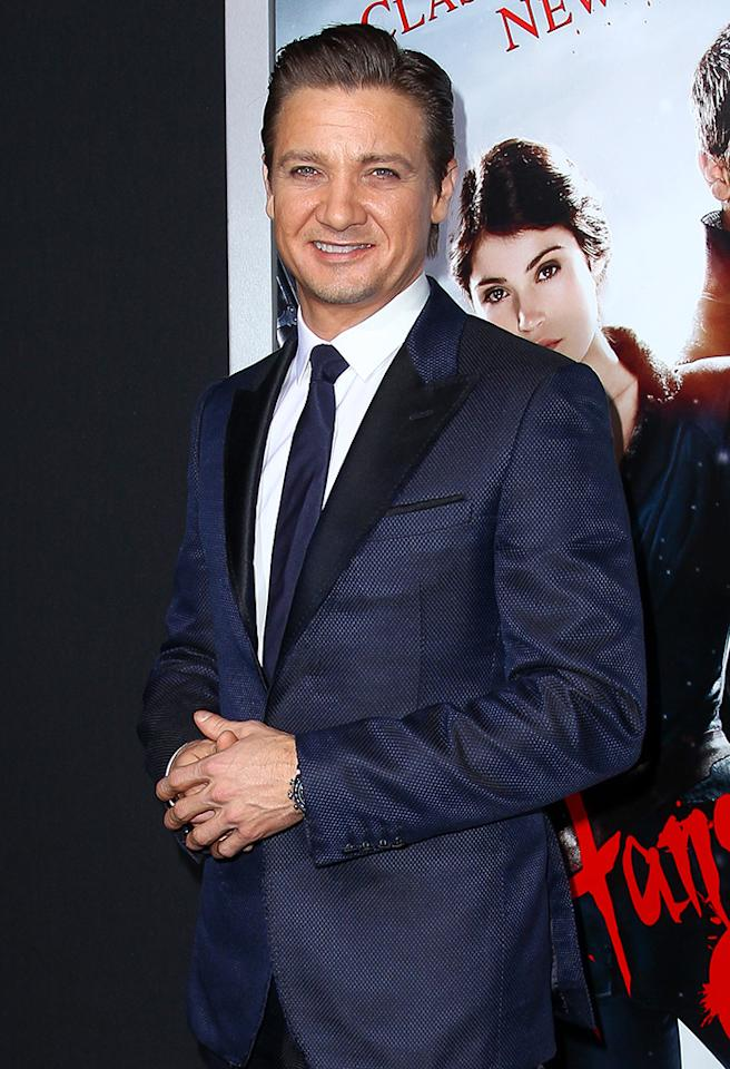 Jeremy Renner arrives for the Los Angeles premiere of Paramount Pictures' 'Hansel And Gretel: Witch Hunters' at TCL Chinese Theatre in Hollywood, California.  Pictured: Jeremy Renner Ref: SPL486425  240113  Picture by: John Salangsang | LEP | Splash   Splash News and Pictures Los Angeles:310-821-2666 New York:212-619-2666 London:870-934-2666 photodesk@splashnews.com