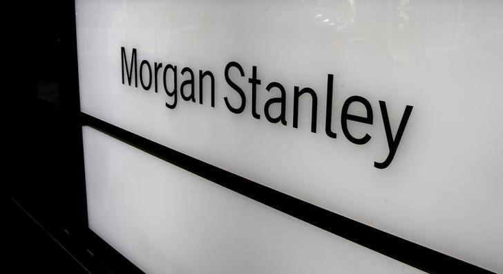 The logo of Morgan Stanley is seen at an office building in Zurich