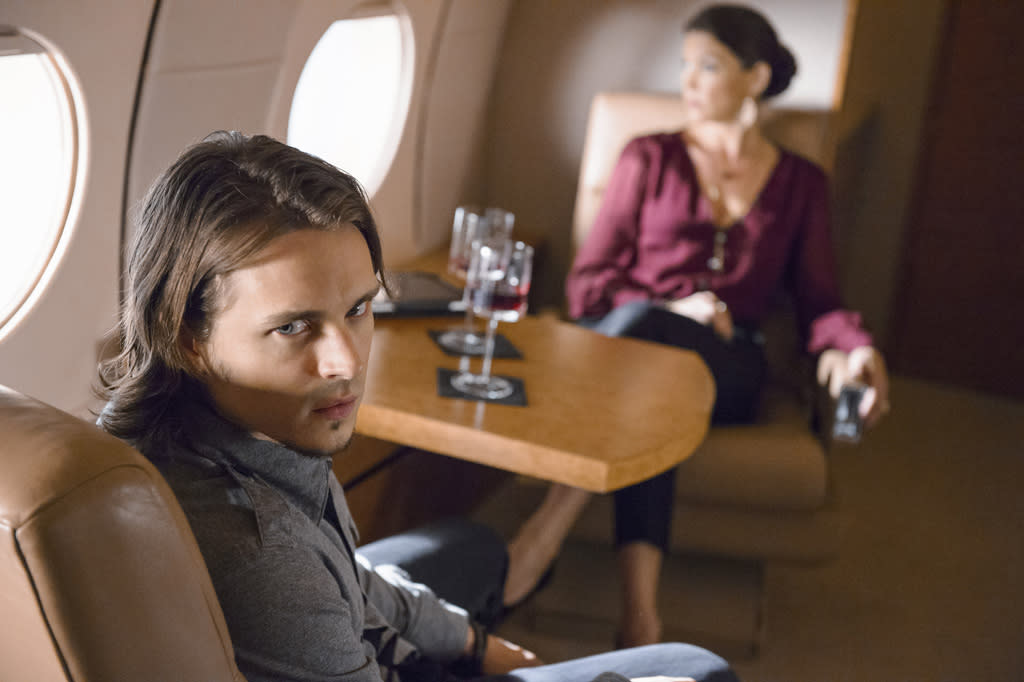 "Jonathan Jackson and Rya Kihlstedt in the ""Nashville"" episode, ""Where He Leads Me."""