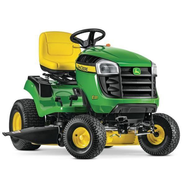"""<p><strong>John Deere S120 Lawn Tractor</strong></p><p>homedepot.com</p><p><strong>$1999.00</strong></p><p><a href=""""https://go.redirectingat.com?id=74968X1596630&url=https%3A%2F%2Fwww.homedepot.com%2Fp%2FJohn-Deere-S120-42-in-22-HP-V-Twin-Gas-Hydrostatic-Lawn-Tractor-BG21272%2F314278217&sref=https%3A%2F%2Fwww.countryliving.com%2Fgardening%2Fgarden-ideas%2Fg36558182%2Fbest-lawn-mowers%2F"""" rel=""""nofollow noopener"""" target=""""_blank"""" data-ylk=""""slk:Shop Now"""" class=""""link rapid-noclick-resp"""">Shop Now</a></p><p>Of course, sometimes you just want a classic. This riding mower has all of John Deere's quality in a price that won't break the bank. Reviewers love the way it handles tall grass and hills, the cushion of the ride, and the uncomplicated function.</p>"""