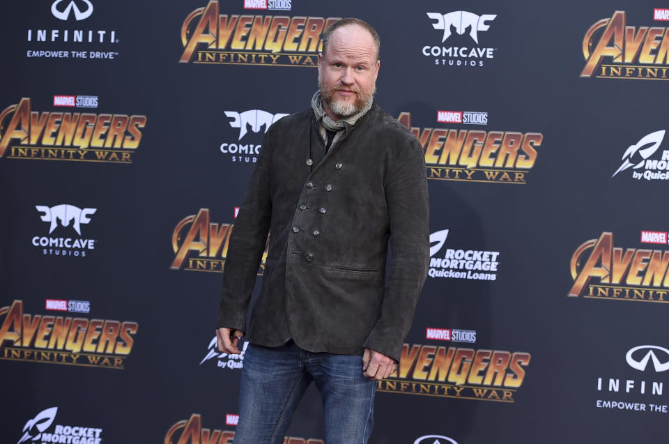 """Joss Whedon arrives at the world premiere of """"Avengers: Infinity War"""" on Monday, April 23, 2018, in Los Angeles. (Photo by Jordan Strauss/Invision/AP)"""
