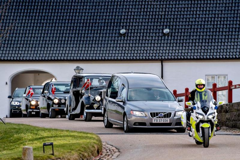 His coffin will be kept at Amalienborg Palace for two days after which it will be transferred to Christiansborg Palacechapel for a funeral next week. Photo: Getty Images