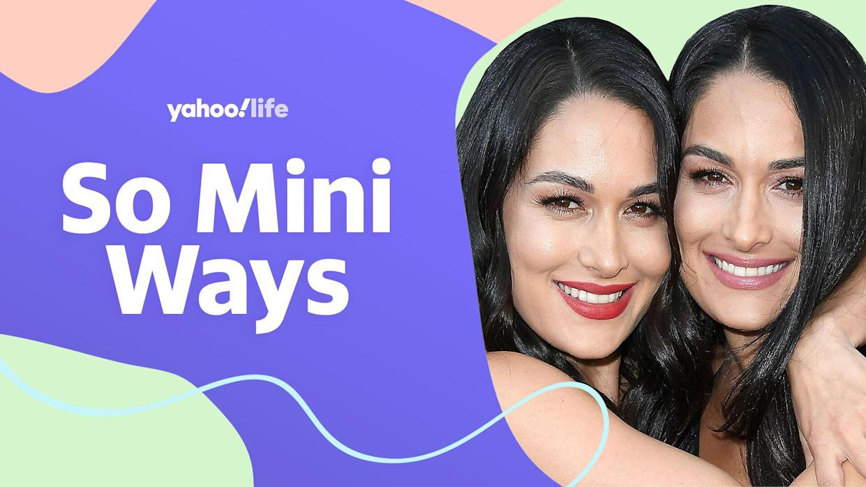 The Bella Twins open up about motherhood. (Photo: Getty Images; designed by Quinn Lemmers)