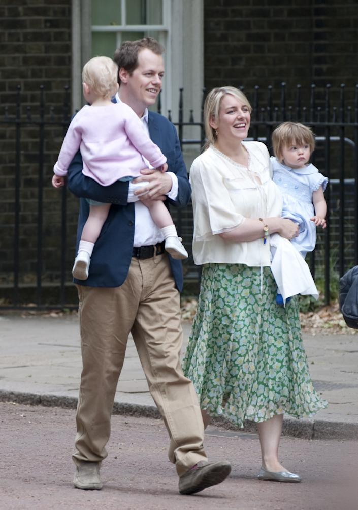 Tom Parker Bowles And Daughter Lola And His Sister Laura Lopes With Daughter Eliza During Trooping The Colour 2009. (Photo by Antony Jones/UK Press via Getty Images)