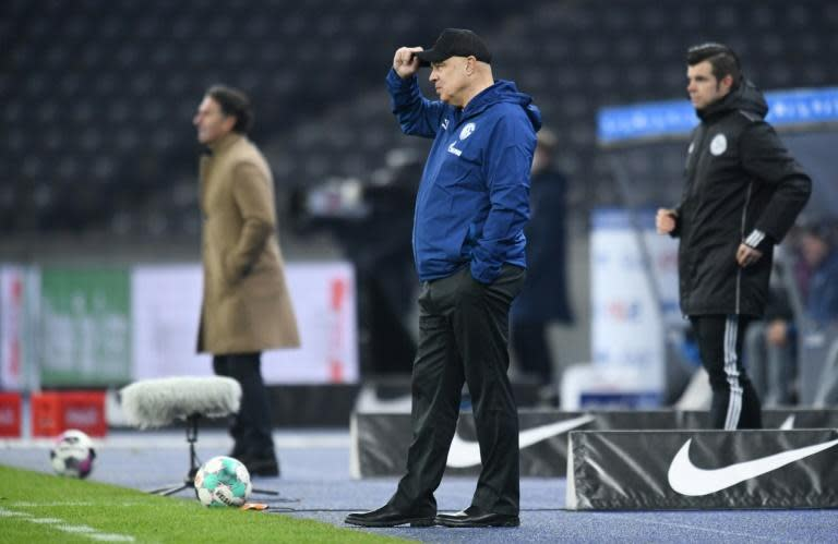 Schalke's new coach Christian Gross made a losing start at Hertha Berlin