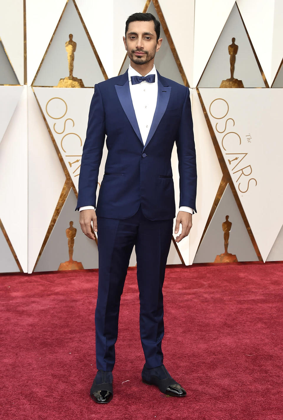 <p>Riz Ahmed arrives at the Oscars on Sunday, Feb. 26, 2017, at the Dolby Theatre in Los Angeles. (Photo by Jordan Strauss/Invision/AP) </p>