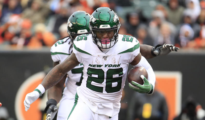Le'Veon Bell is out this week for the New York Jets. (Photo by Andy Lyons/Getty Images)