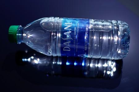 A bottle of Dasani drinking water is shown in this photo illustration