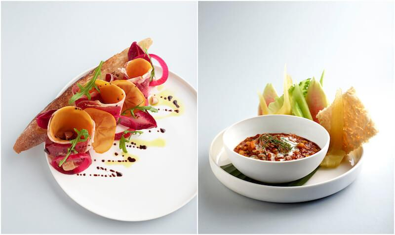 Wagyu beef bresaola and spicy prawn relish. Photos: Como Cuisine