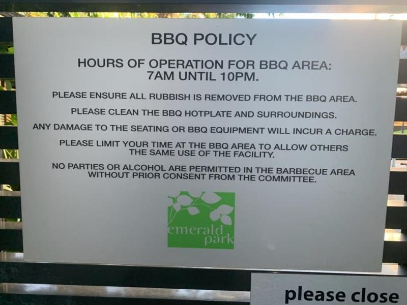 The BBQ policy now allows for music as well as parties with prior consent. Photo: Supplied