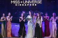 Cheryl Yao, second Runner Up winner in the finals of the 2019 Miss Universe Singapore beauty pageant at Zouk.