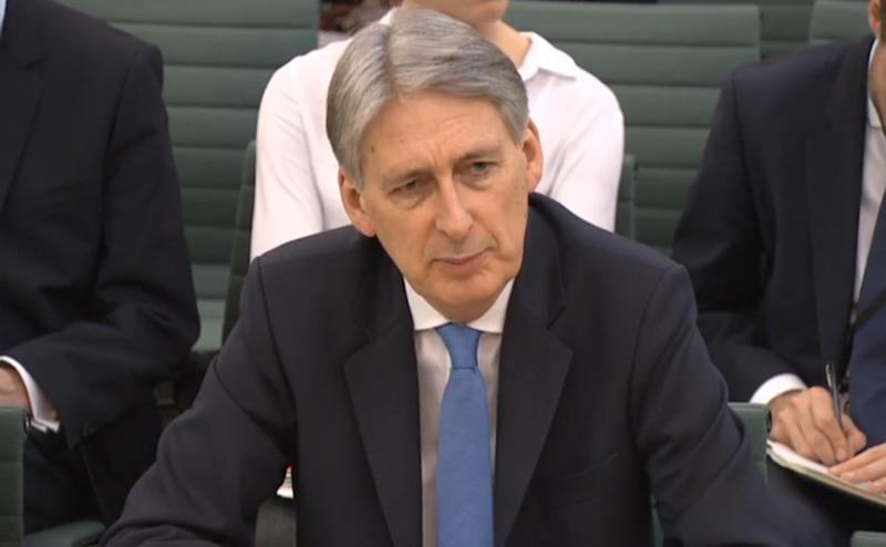 Philip Hammond at the Treasury select committee (PA Wire/PA Images)