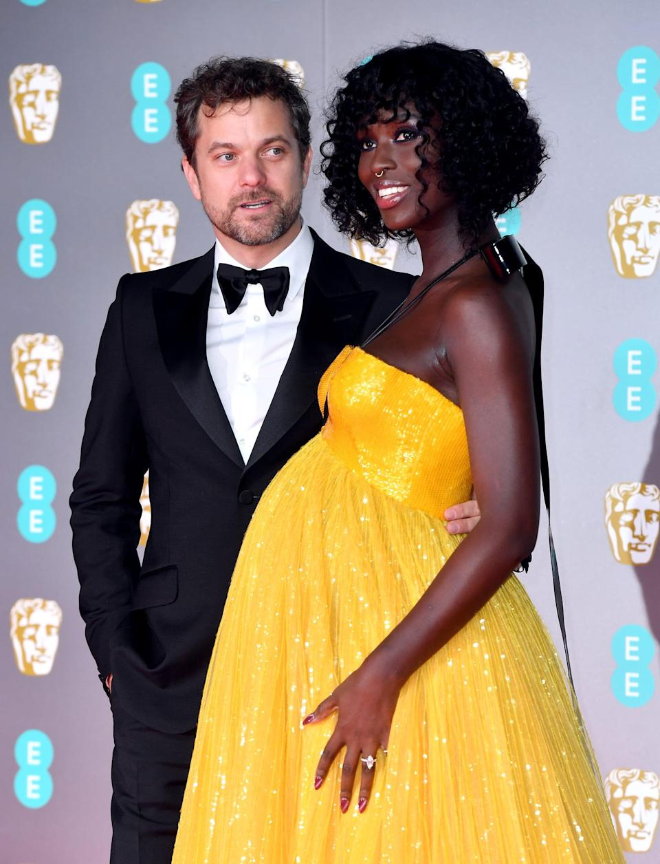 Joshua Jackson and Jodie Turner-Smith attending the 73rd British Academy Film Awards held at the Royal Albert Hall, London. (Photo by Matt Crossick/PA Images via Getty Images)