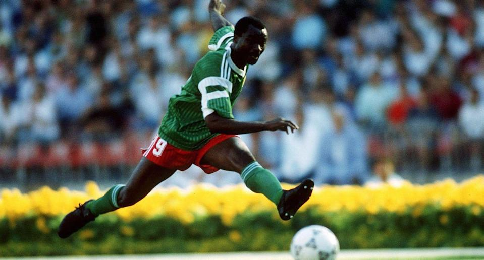 Roger Milla became the World Cup's oldest scorer in Cameroon's 6-1 defeat to Russia.