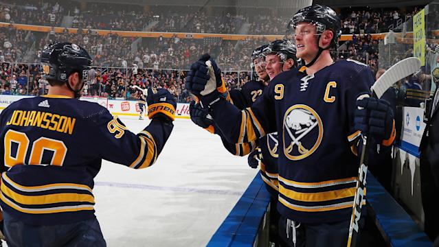 Are the Buffalo Sabres for real? (Photo by Bill Wippert/NHLI via Getty Images)