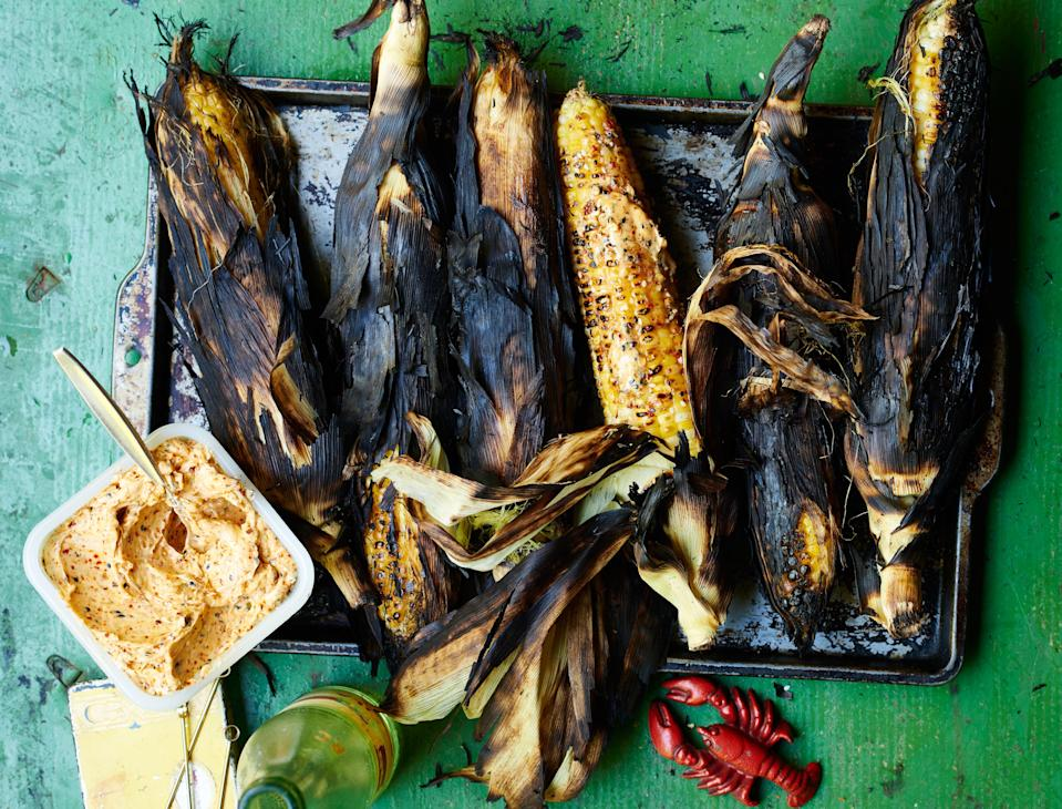 "How to choose corn: Look for tight, squeaky, green husks and rows of kernels that feel taut and full when you run your hands over the cobs. <a href=""https://www.bonappetit.com/recipe/whole-corn-on-the-grill?mbid=synd_yahoo_rss"" rel=""nofollow noopener"" target=""_blank"" data-ylk=""slk:See recipe."" class=""link rapid-noclick-resp"">See recipe.</a>"