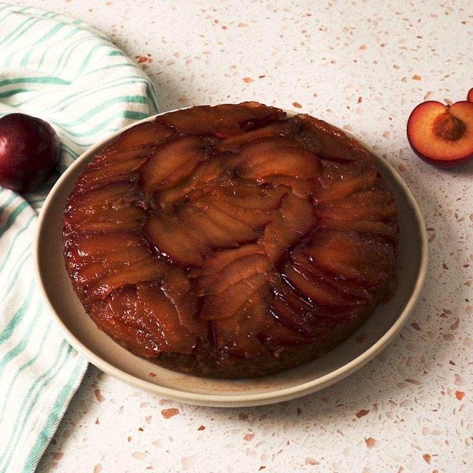 <p>Upside down cakes are the best kind of cakes. With syrupy sweet fruit baked right into the cake, they always come out moist and beautiful. This version uses plums and the same technique as the classic.</p><p>Get the Upside-Down Plum Cake recipe.</p>