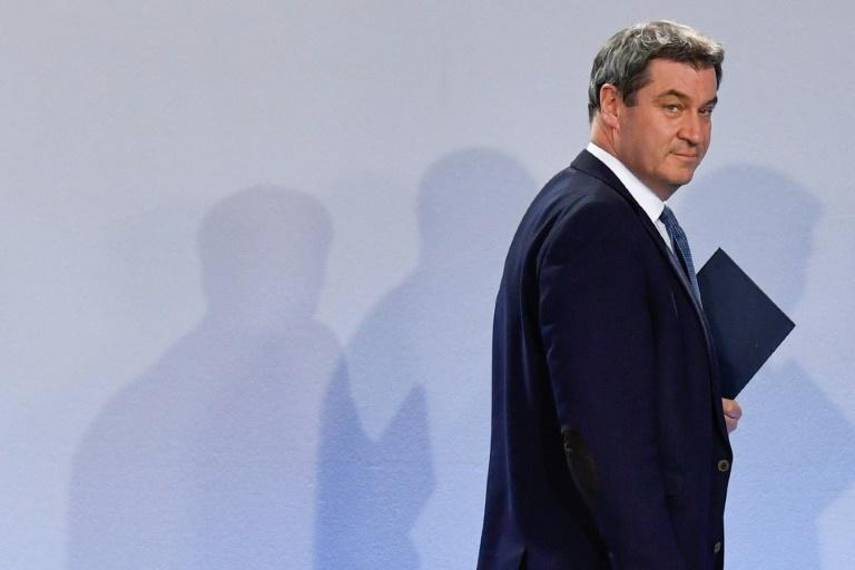 Bavaria state premier Markus Soeder had pushed for help to the country's automobile sector (AFP Photo/John MACDOUGALL)